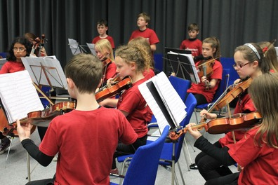Young Music Students